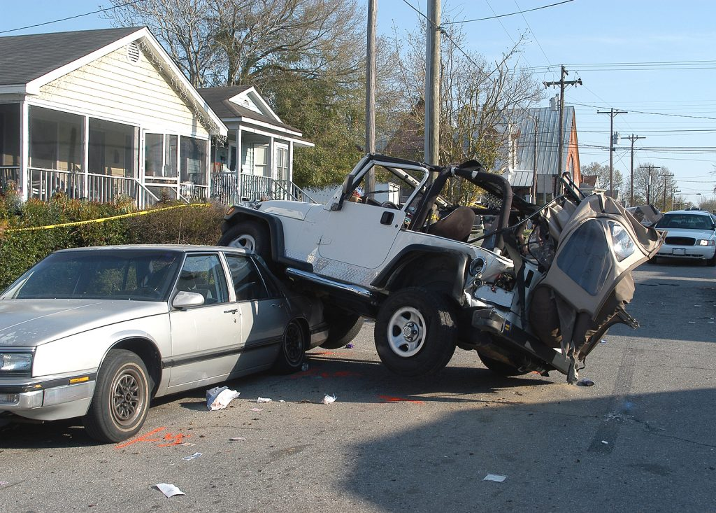 suv in an auto accident in Raleigh